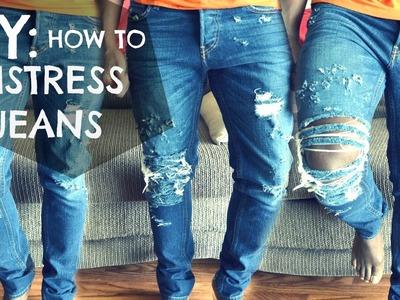 DIY How To: Distressed Jeans Tutorial - dyrandoms