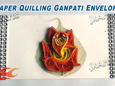 DIY How to make Paper Quilling Ganpati Envelope - JK Arts 368
