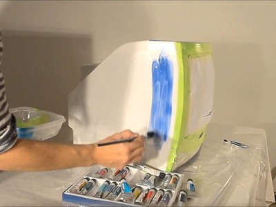 DIY How to paint your TV - Manualidades:  Cómo pintar tu tele