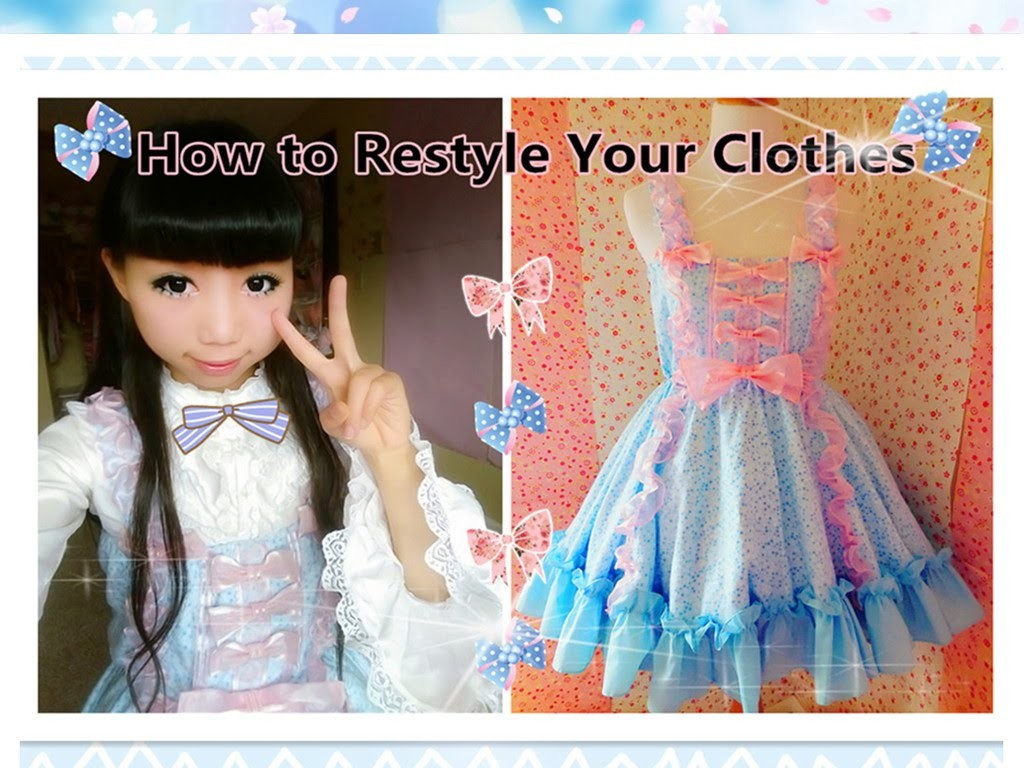 DIY Kawaii Dress - How to Restyle Your Clothes to Lolita Dress-Lolita Fashion