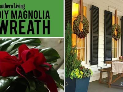 DIY Magnolia Wreath   Christmas Wreath