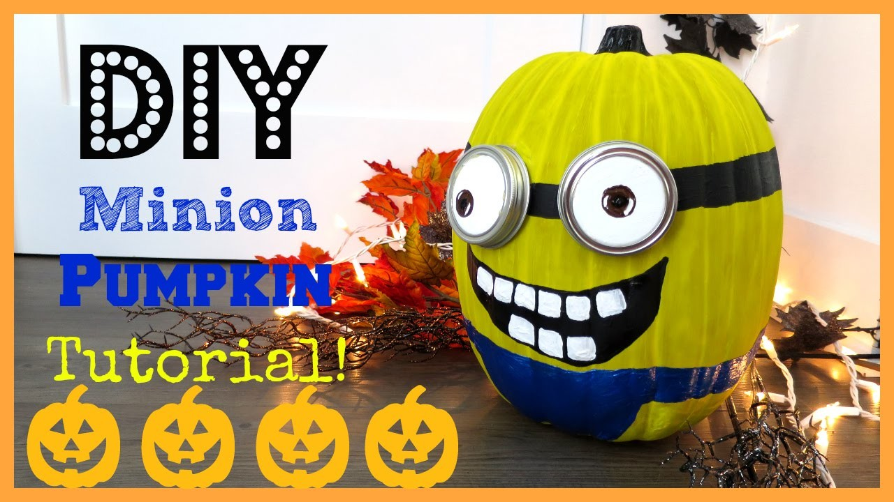 DIY Minion Pumpkin!!! | MissJenFABULOUS