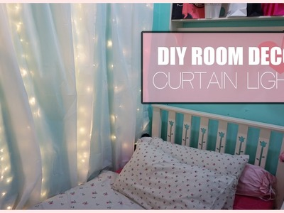 DIY Room Decor Curtain Lights