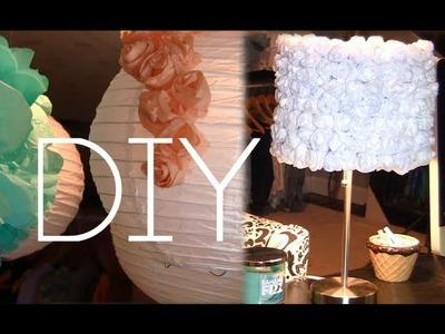 DIY Rose Decor Lamp & Lantern