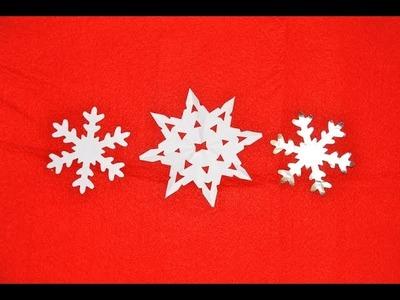 DIY SNOWFLAKE decoration - how to make