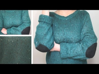 DIY Speckled Sweater with Elbow Pads