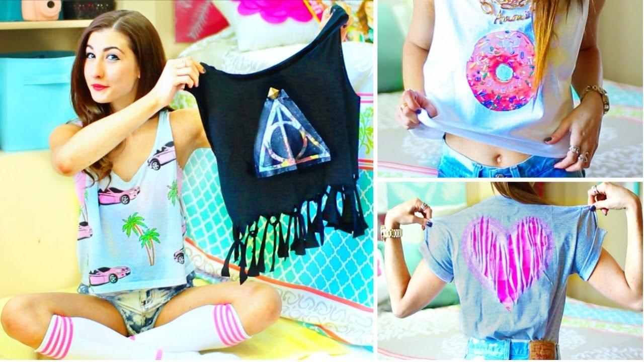 DIY T-Shirt Ideas Inspired By Tumblr | Easy & Cute Tumblr Shirts