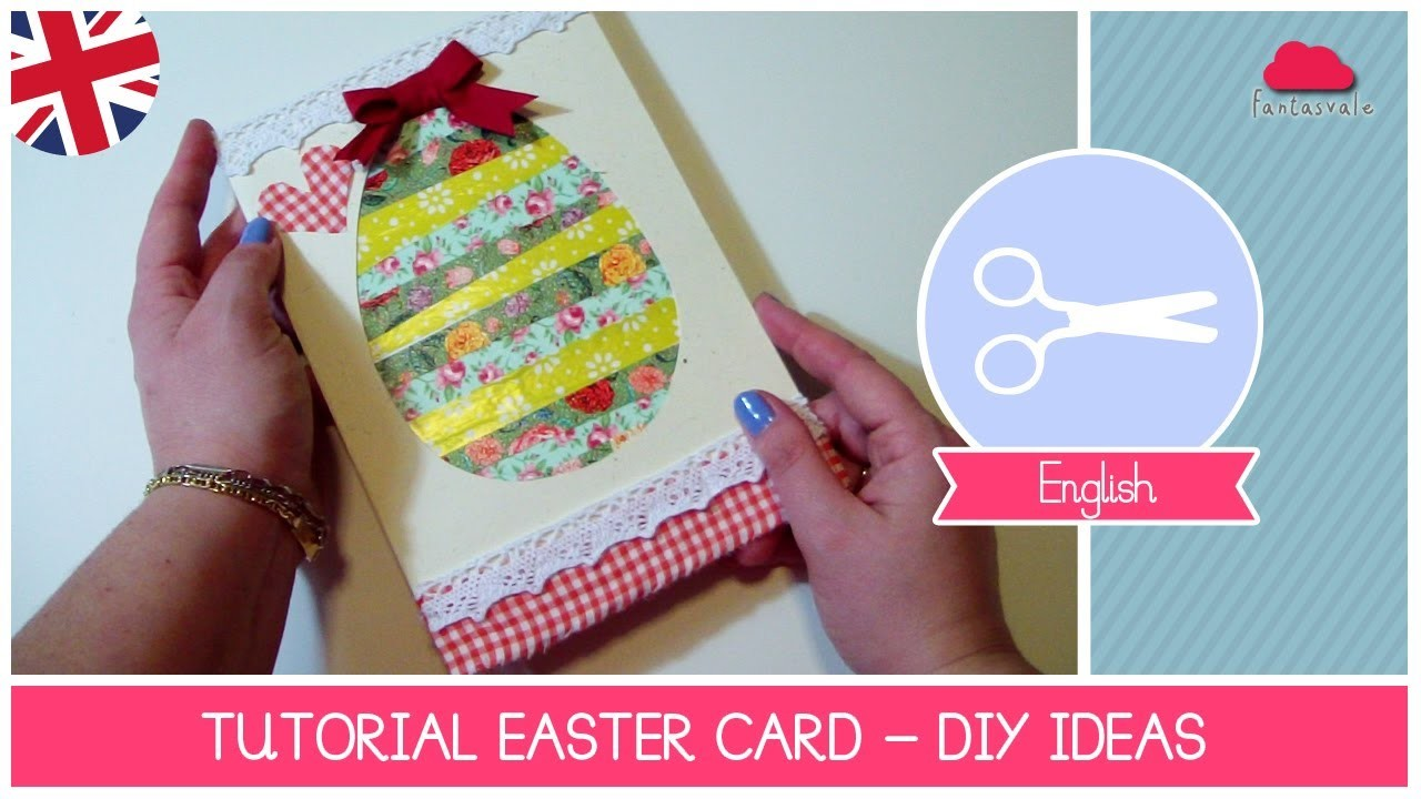 EASTER Ideas: how to make a Easter Egg Card Scrapbooking Style - DIY Tutorial by Fantasvale