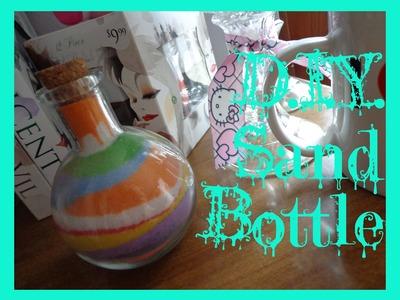 EASY DIY Rainbow Home Decor Sand Bottle