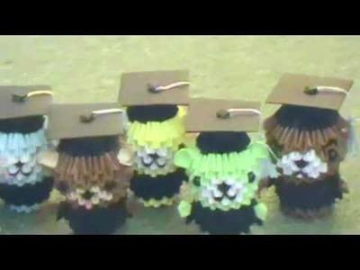 Graduation bears (3D origami)