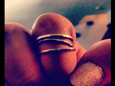 Hammered Stacked Cuff Rings DIY