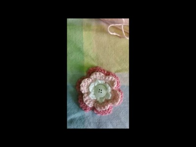 How to Crochet a 3 Tiered Flower