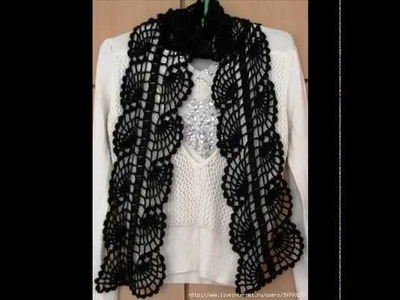 How to crochet scarf free pattern.