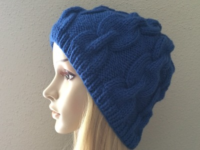 How to Knit a Chain Link Hat, Lilu's Knitting Corner video # 9