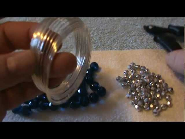 How To Make A Beautiful and Simple Memory Wire Bracelet~Great For Christmas!
