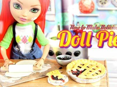 How to Make a Doll Blackberry Pie & Cherry Pie - Doll Crafts