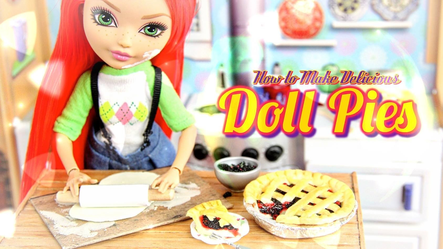 How to Make a Doll Blackberry Pie & Cherry Pie - Doll Crafts