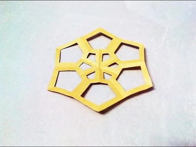 How to make a kirigami paper snowflake - 4 | Kirigami. Paper Cutting Craft, Videos and Tutorials.