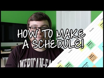 How to Make a Printable Schedule!
