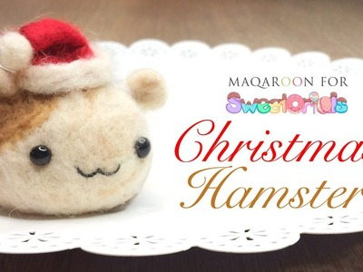 How To Make A Santa Hat and Needlefelt Hamster Tutorial