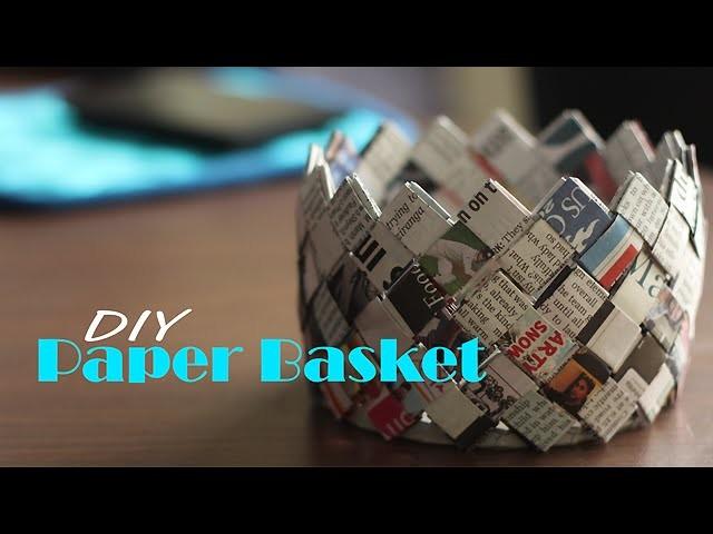 How to make Paper Basket : DIY
