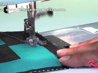 How to Use the Janome Custom Craft Zig Zag Foot