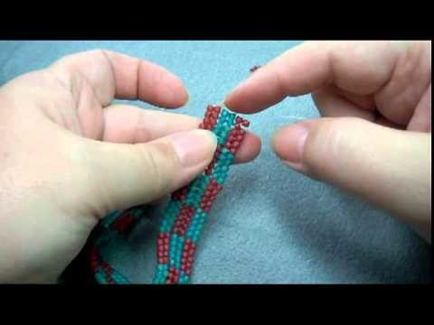 Intro to Herringbone Beading Stitch Tutorial, Part 3