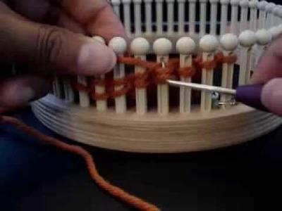 Knitting Pinwheels on Loom Part IV - http:.YarnBay.etsy.com