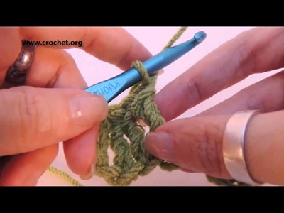 Learn to Crochet: Treble Crochet (tr) Left Handed