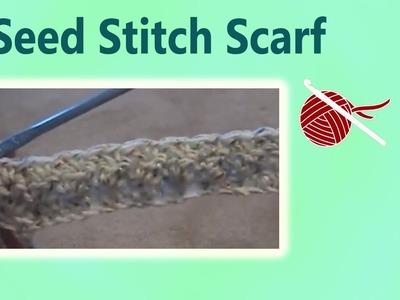 Left Hand Crochet Seed Stitch Scarf Crochet Geek