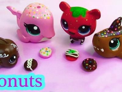 Littlest Pet Shop Play Doh DONUTS  Custom DIY Mini LPS Food Playdoh