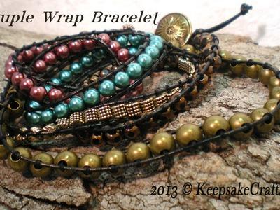Multi Wrap Beaded Bracelet Video Tutorial