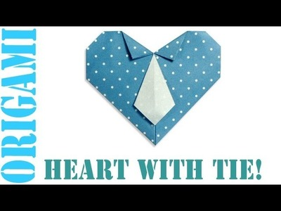 Origami Daily - 048: Heart With Necktie - TCGames [HD]