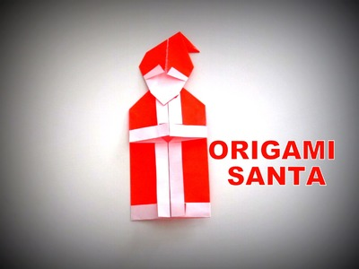 Origami - How to make a SANTA CLAUS (Christmas Decoration)