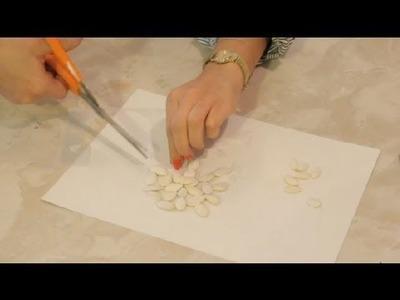 Pumpkin Seed Snowflake Craft : DIY Crafts