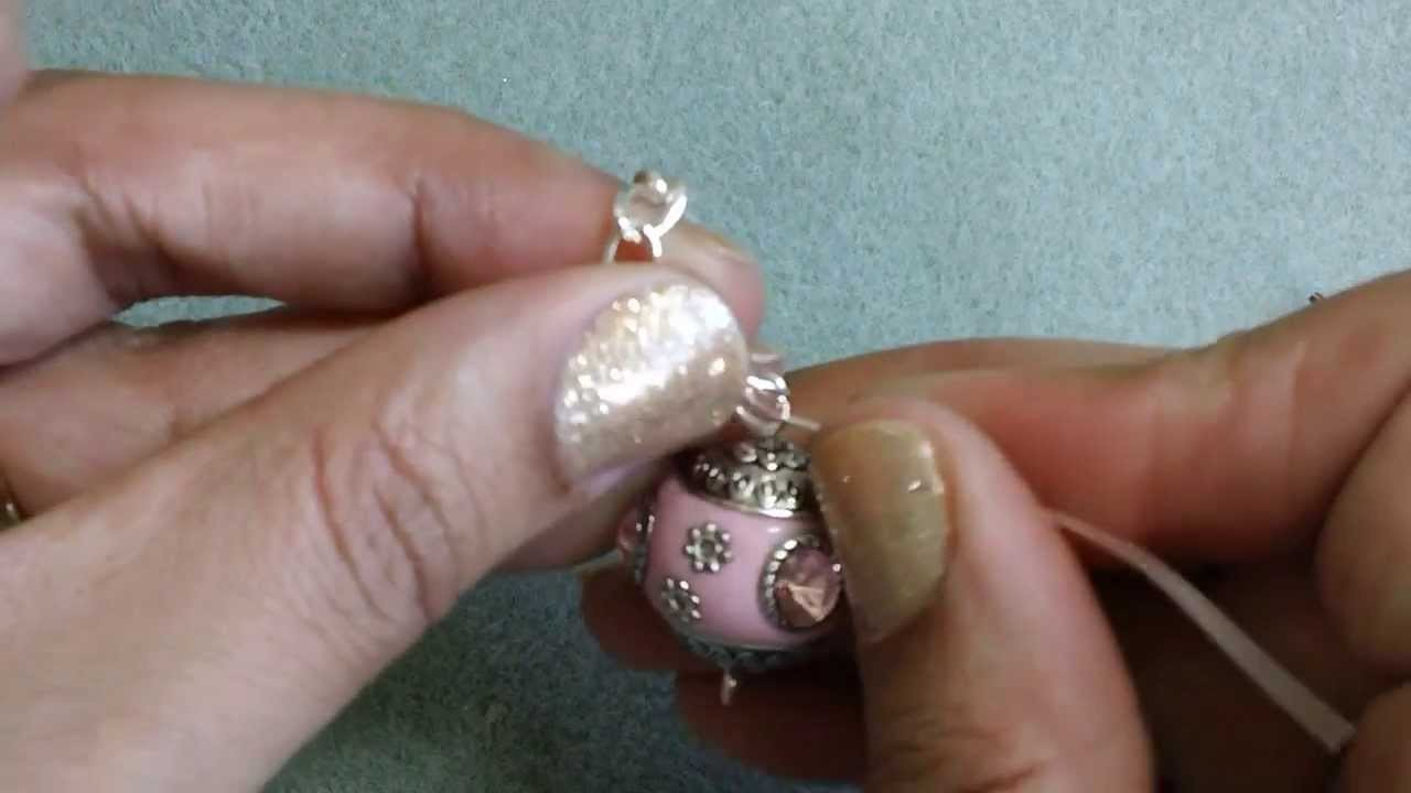 Purse Charm Tutorial ~Attaching the Clasp and Beads~