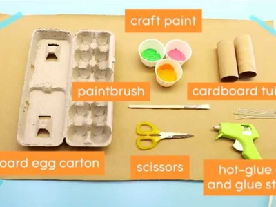 Quick and Easy Craft: Egg Carton Napkin Rings