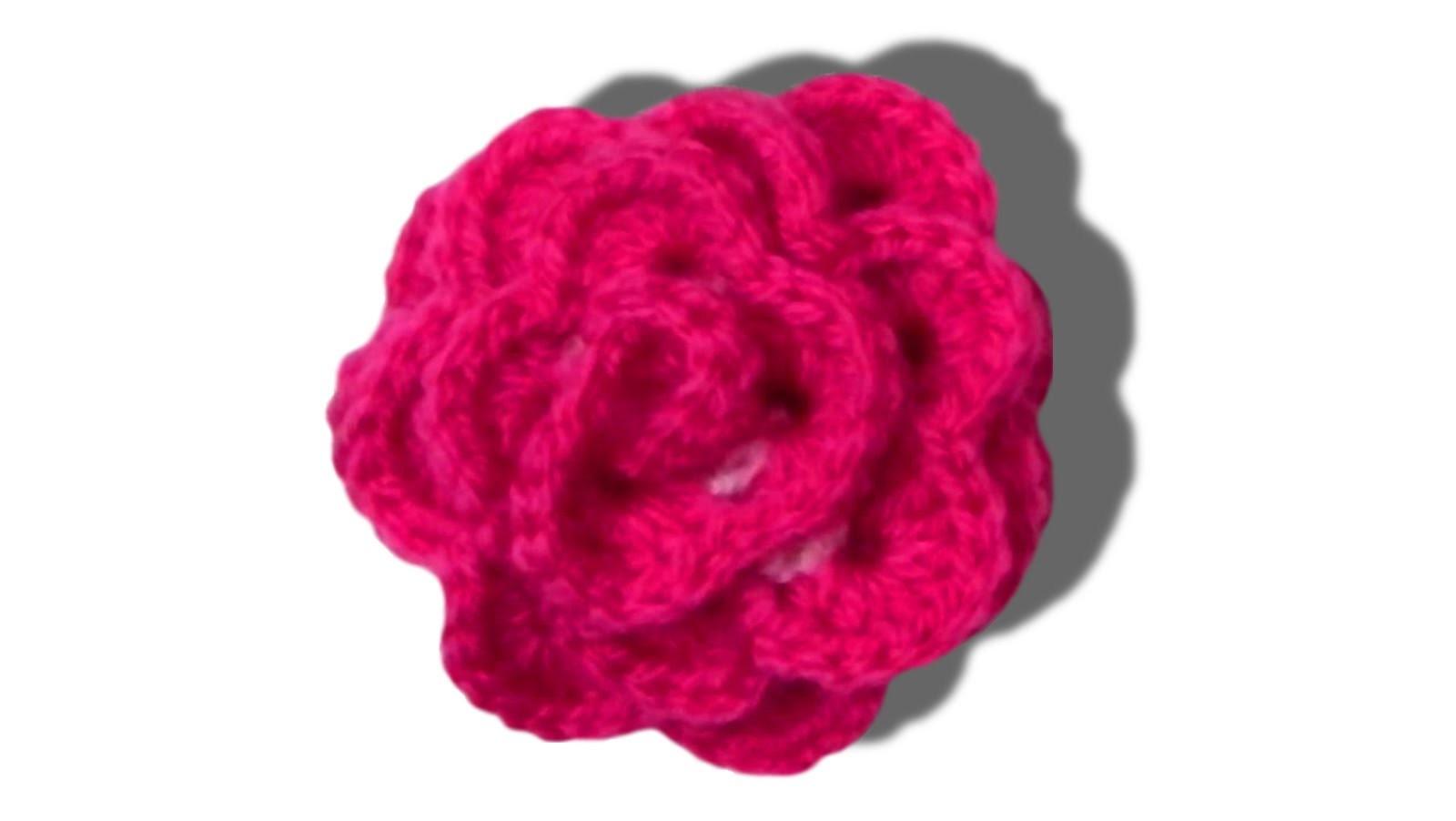 Rose flower crochet tutorial - © Woolpedia