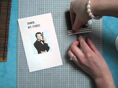 Scrapbooking Tutorial #14: Johnny Depp, James Bond, the Queen, and Patrick Stewart on my Coasters!