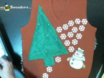 Snowflake Motif Christmas Sweater Design