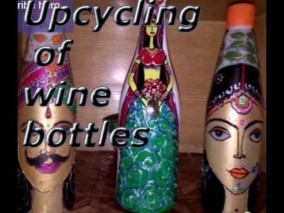 Upcycling Wine Bottles | Bottle Craft Ideas | DIY