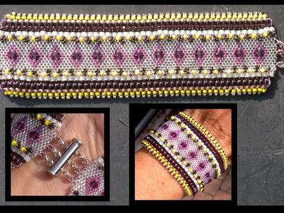 Beading4perfectionists : Odd peyote (part 2)  beaded embelishment stitch beading tutorial