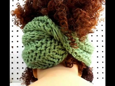 BOA Unique Knit Infinity Scarf and Pattern - Wear as a Head Wrap and Cowl