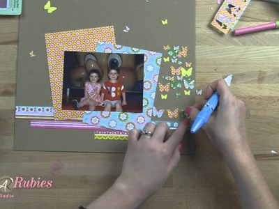 Butterfly Punch Scrapbook Ideas Tutorial