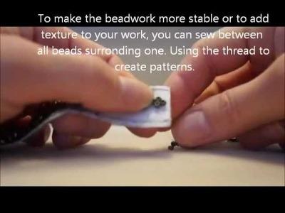 Chain stitch (brick stitch) tutorial