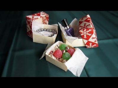 Christmas Gift Box: Origami Tutorial