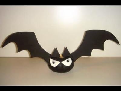 CRAFT - How to Make Halloween Bat-O' Lantern