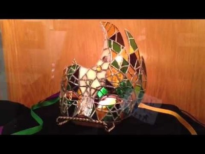 Crafts - Soldering to create a 3-D Stained Glass Mardi Gras Mask