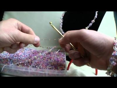 Crochet 3 Strand Jewelry Wire Necklace
