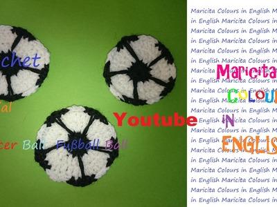 Crochet in English Soccer Ball. Fußball Ball (Part 2) Maricita Colours Audio in English